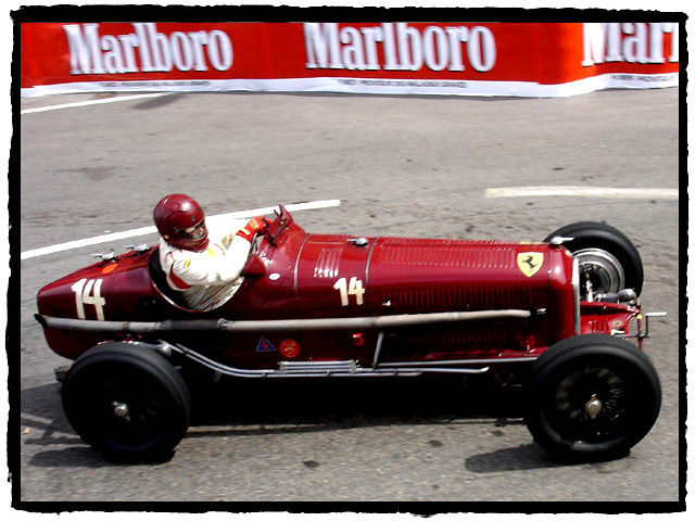 Robert Fink (D) at the Rascas in the ex Caracciola 1932 Alfa Romeo P3 Typo B.