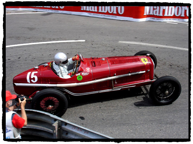Warren Spieker (USA) at the Rascas in the ex Scuderia Ferrari 1932 Alfa Romeo P3 Typo B which Guy Moll drove to victory here in 1934.