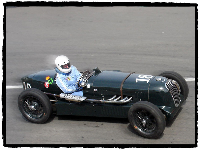 Tom Price (USA) in his 1936 Alta GP.