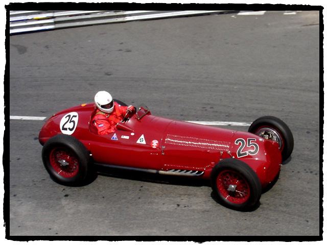 Herbert Handlebauer (A) in the sole remaining 1937 Alfa Romeo 12C. This car was driven by Achille Varzi.