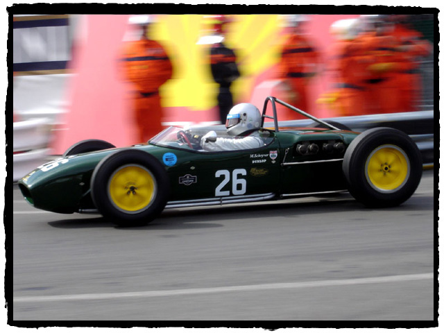 Michael Shryver in the ex Jim Clark 1960 Lotus 18.