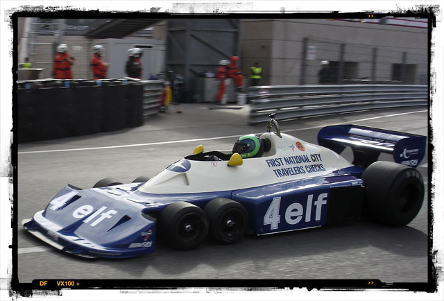 Martin Stretton in the ex-Peterson 1977 P34 Tyrrell.