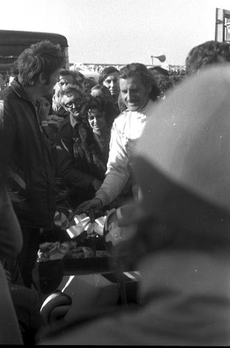 Graham Hill after winning the final of the Jochen Rindt Memorial Trophy.