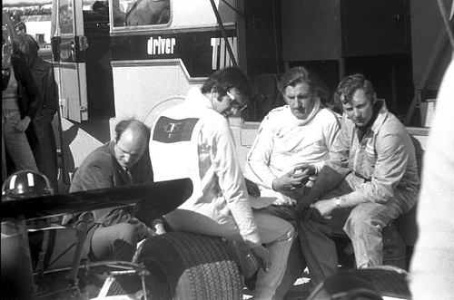 Graham Hill with the Rondel Racing team.