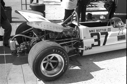Mike Beuttler's March 712M - Cosworth FVA before the race.