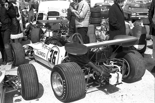 Ronnie Peterson's March 712M - Cosworth FVA before the race.