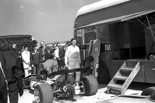 Graham Hill with the Rondel Racing team Brabham BT36 - Cosworth FVA.