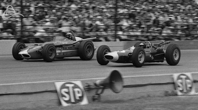 Bob Mathouser and Jimmy Clark battle, 1964. (Johnson)