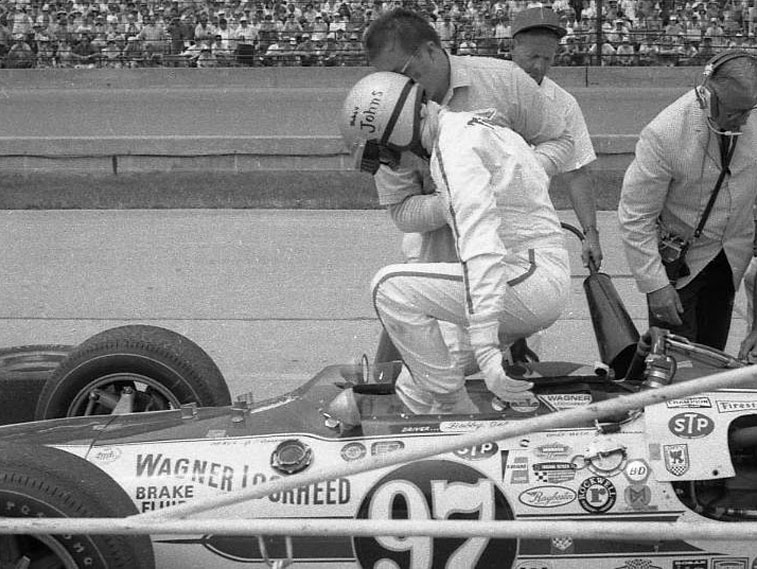 Bobby Johns retires from the 1969 Indy 500. (Johnson)