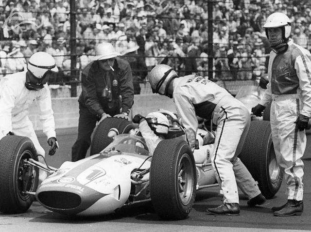 Bobby Marshman with a little help from his friends. 1964? (Johnson)