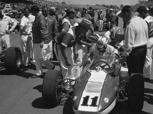 Bobby Unser gets ready, 1966. (Johnson)