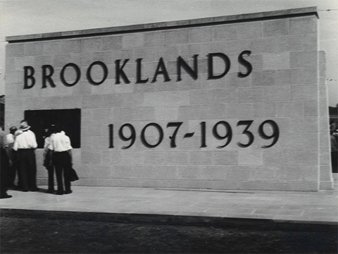 The Brooklands Memorial being unveiled