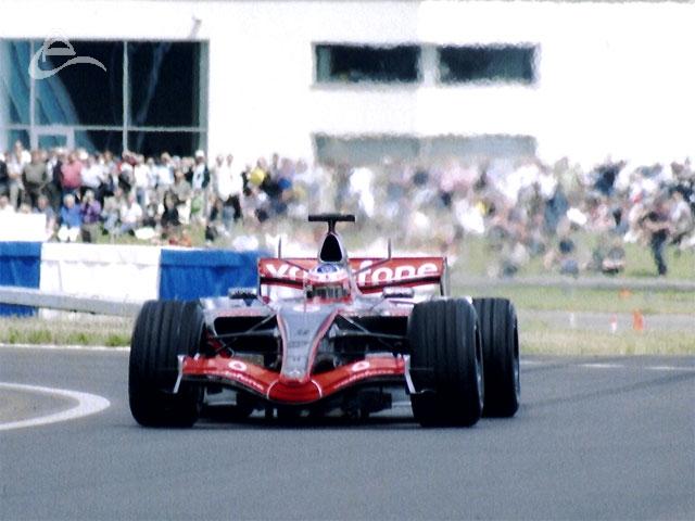 The McLaren MP4/21 driven by Gary Paffett.