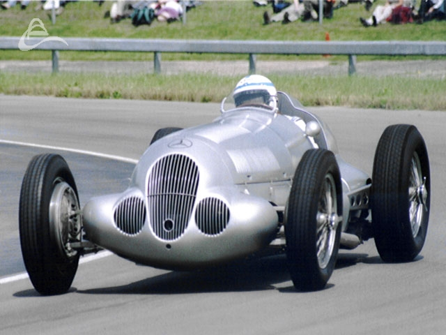 Mercedes W125 being driven by John Surtees