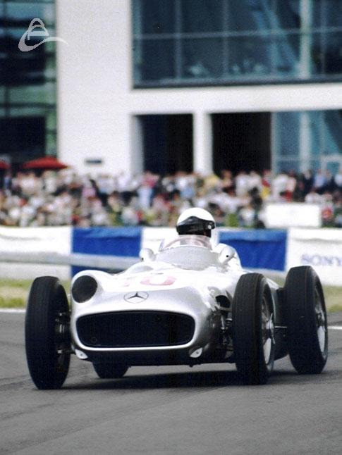 Mercedes W196R driven by Jochen Mass.