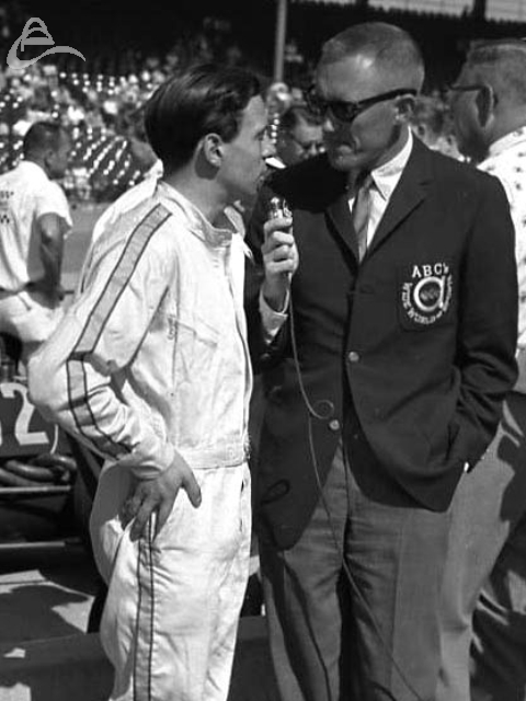 Jim Clark endures yet another 'How does it feel' interview.