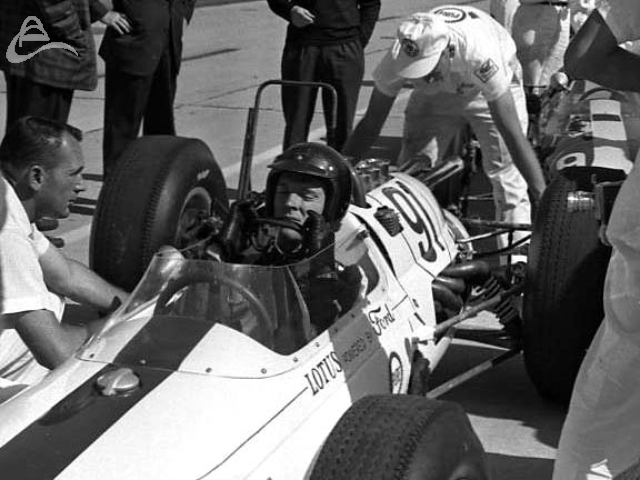Gurney fixin' to make a run, 1963. (Johnson)