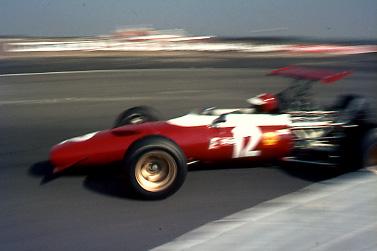 A Formula 2 Ferrari exits the chicane at Thruxton