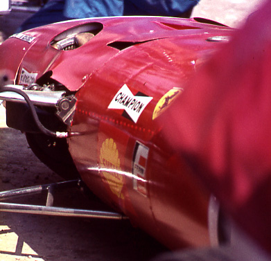 The splendour of ferrari red was a welcoming and colurful sight in any motor racing paddock
