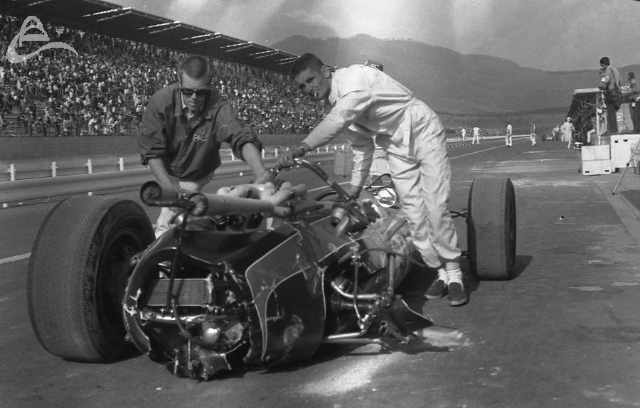 Fuji, 1966. Slammin' Sammy Sessions' day is over. (Johnson)