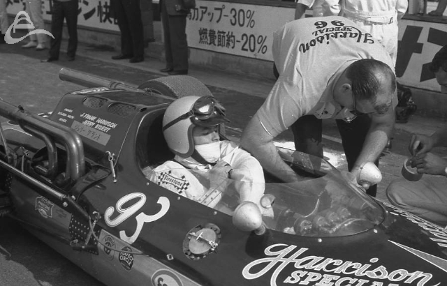 Fuji, 1966. Jerry Grant's Chevy powered Harrison Special. (Johnson)