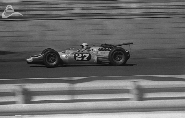 Billy Foster at speed, Fuji 1966. (Johnson)