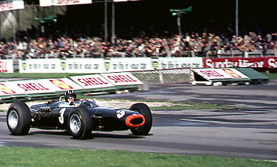 Graham Hill BRM Goodwood Chicane