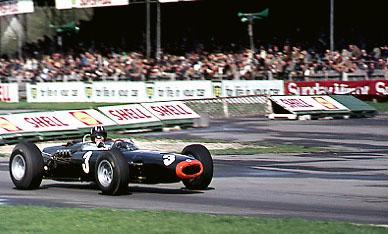 Graham Hill BRM Goodwood Chicane Photograph © Roger Lane