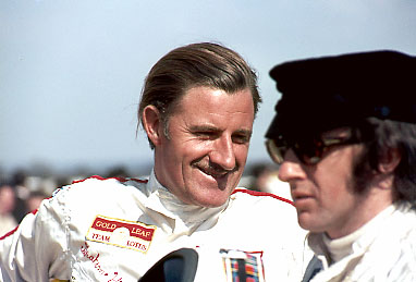 Graham Hill and Jackie Stewart, Thruxton F2