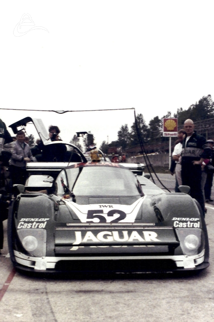 TWR Jaguar XJR-6 (285) driven by Hans Heyer and Jan Lammers retired on lap 77 with mechanical failure