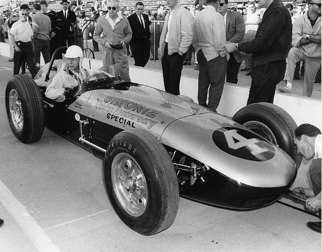 Jim Rathmann at Indy, 1961. (Johnson)