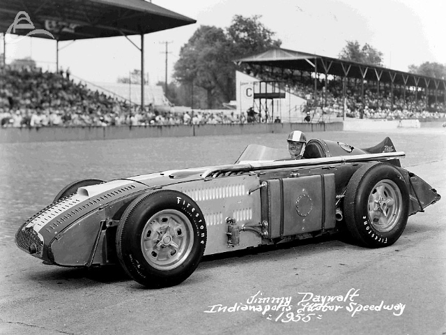 Jimmy Daywalt's official IMS photo, 1955. The Sumar Special. Jimmy had the