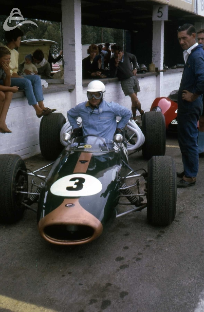 Luki Botha, Brabham re-engined with Repco, Killarney, Cape Town.