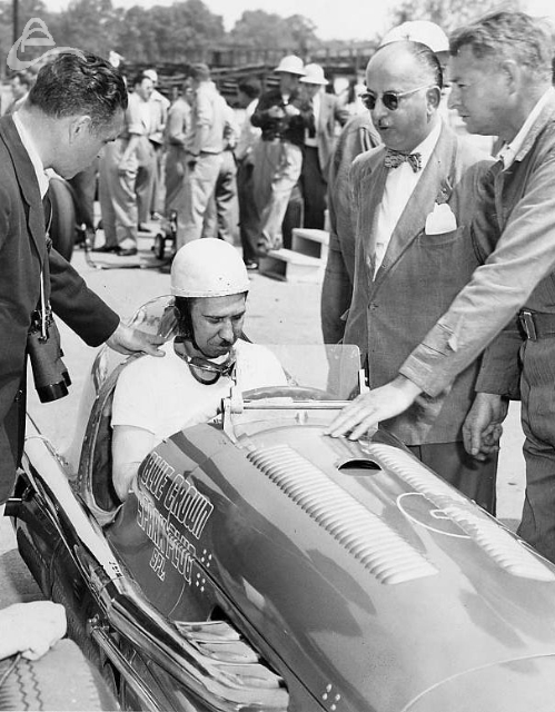 3-time Indy 500 winner, Mauri Rose, 1948. (Photographer Unknown)