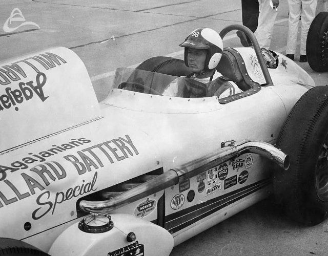 Parnelli Jones, Indy, 1961. (Johnson)
