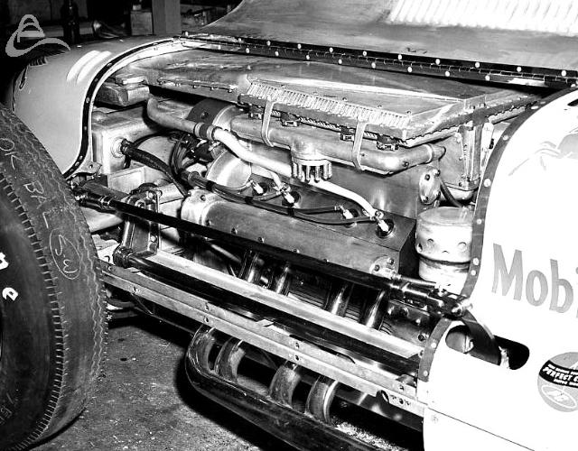 Rex Mays' 1949 Indy Novi engine. (Spicklemire)