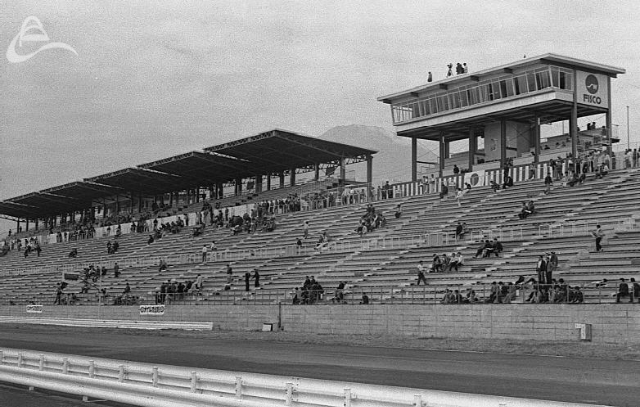 The grandstand at Fuji (Johnson)
